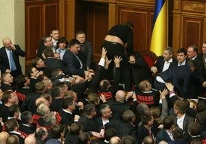 Рада - драки в Раде - Депутаты в Раде чаще получают травмы, но проблем с нервами не имеют - газета