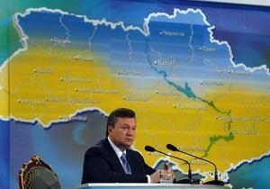 Янукович прокомментировал идею федерализации Украины