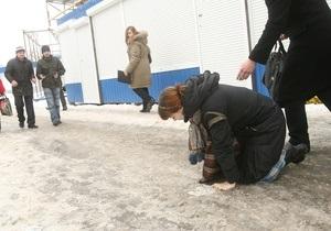 Корреспондент: 10 тысяч киевлян получили переломы из-за обледеневших улиц