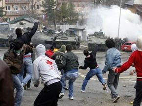 На севере Косово вновь произошли столкновения на этнической почве