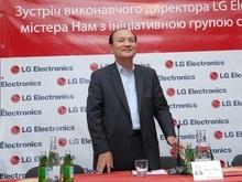 Впервые Вице-президент и исполнительный директор компании LG Electronics мистер Йонг Нам посещает Украину