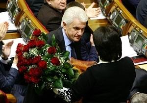 Литвина поблагодарили за работу спикером