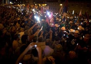 В Мадриде полиция обстреляла митингующих шахтеров резиновыми пулями