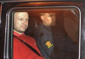 Суд Осло продлил Брейвику заключение в изоляции
