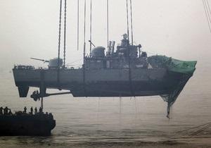 На затонувшем южнокорейском военном корабле нашли следы от мощной взрывчатки