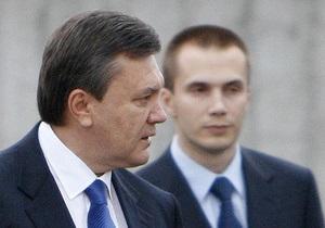 Западные СМИ: Янукович, подобно арабским диктаторам, строит бизнес-империю для своей семьи
