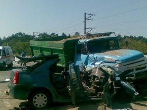 На дамбе через Днепр столкнулись автомобили: двое погибших