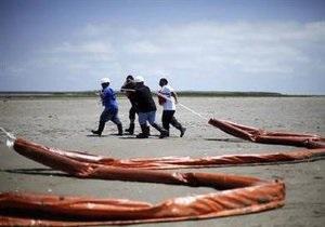 Нефтяное пятно достигло берега штата Луизиана