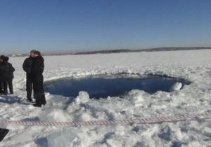 Новости науки - новости России - метеорит в Челябинске:На дне озера Чебаркуль обнаружили воронку от падения метеорита