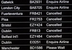 В Европе из-за пепла от исландского вулкана отменили уже более 250 рейсов