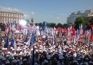Оппозиция заявляет, что на Софийской площади собралось 50 тысяч человек