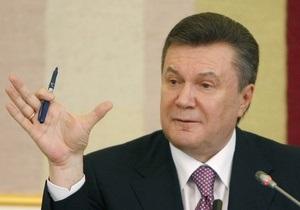 Янукович напомнил Европе и РФ о предложении построить газопровод по территории Украины