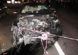 В Bentley, протаранившем восемь автомобилей на Крещатике, находилась дочь Джарты - СМИ