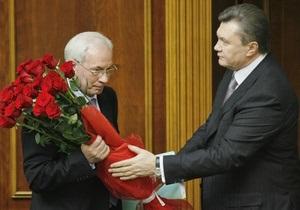 Янукович и Путин поздравили Азарова с днем рождения
