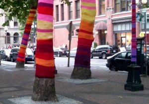Львовские деревья оденут в вязаные флаги