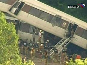 Во Франции пассажирский поезд столкнулся с трактором