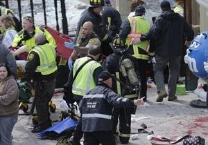 Видео первых минут после теракта в Бостоне