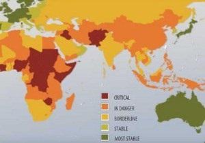 Украина улучшила позиции в рейтинге самых нестабильных стран