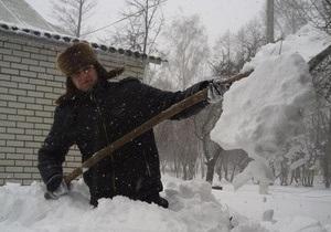 Непогода - Запад Украины - погода в Украине - снегопады - Непогода на Западе Украины: 70 населенных пунктов отрезаны от дорог, еще к 194 осложнен проезд