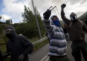 В Испании шахтеры вышли на баррикады, протестуя против сокращения финансирования отрасли