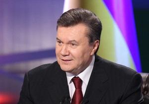 Янукович поздравил украинцев с Международным днем солидарности трудящихся