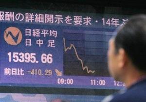 Фондовый рынок Японии рухнул из-за землетрясения