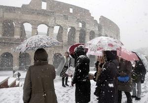 Римский Колизей пострадал из-за морозов