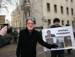 Молодежное движение спародировало Ющенко на акции протеста в Москве