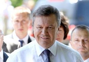 Сегодня Янукович совершит поездку по Киеву