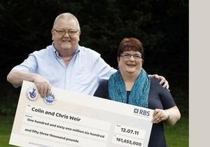 Выигрыш в лотерею сделал жизнь британской пары невыносимой
