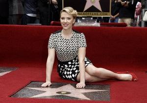 Скарлетт Йоханссон получила звезду на Аллее славы в Голливуде