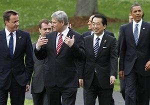По итогам саммита лидеры G8 приняли ряд решений