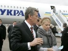 Ющенко сел на самолет, на котором Тимошенко должна была лететь в Россию
