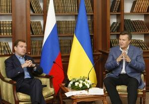 Янукович созвонился с Медведевым