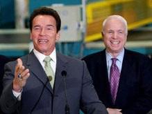 Шварценеггер поддержал кандидата в президенты США Маккейна