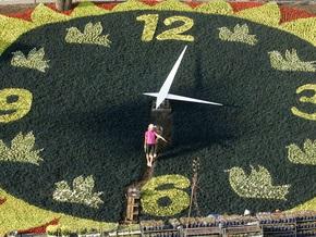 Цветочные часы в центре Киева запустят весной