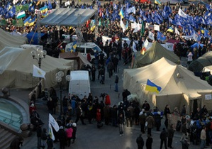 В МВД прокомментировали демонтаж палаточного городка на Майдане Незалежности
