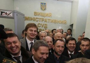 Судьи ВАСУ принимают решение о трансляции рассмотрения иска Тимошенко