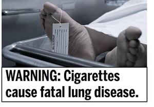В США на пачках сигарет будут печатать фотографии трупов