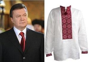 Студенты призвали Януковича прийти на работу в вышиванке