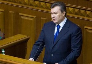 Янукович обещает украинцам  дальнейшее улучшение  условий ведения бизнеса