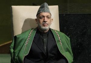 Карзай дал войскам США две недели, чтобы покинуть центральную провинцию Афганистана