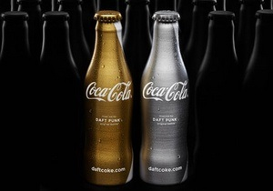 Coca-Cola выпустит бутылки, стилизованные под Daft Punk