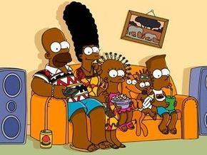 В Анголе Симпсонов сделали чернокожими