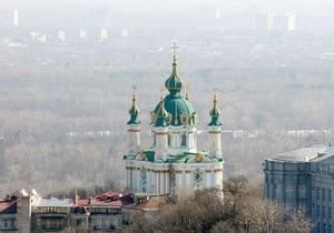 В Киеве под Андреевской церковью произошел сдвиг почвы