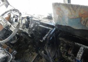 В Херсоне на ходу загорелся троллейбус с пассажирами