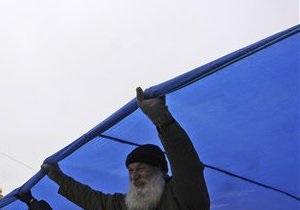 В Киеве показали самый большой в Украине флаг Земли