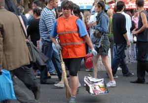 Киевские дворники отказываются выходить на работу из-за невыплаты зарплаты
