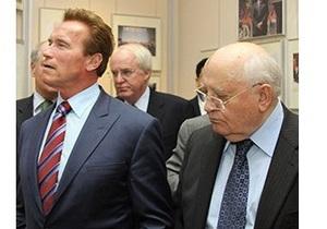 Горбачев провел встречу со своим  старым другом  Арнольдом Шварценеггером