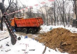 Депутат Рады заявил, что строительство в сквере на Прорезной курирует Басс